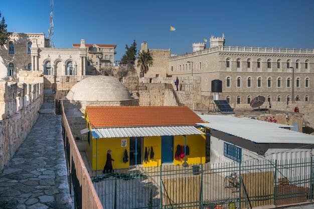 Widok ścienny Deptak Otacza Starego Miasto, Jerozolima, Izrael Premium Zdjęcia