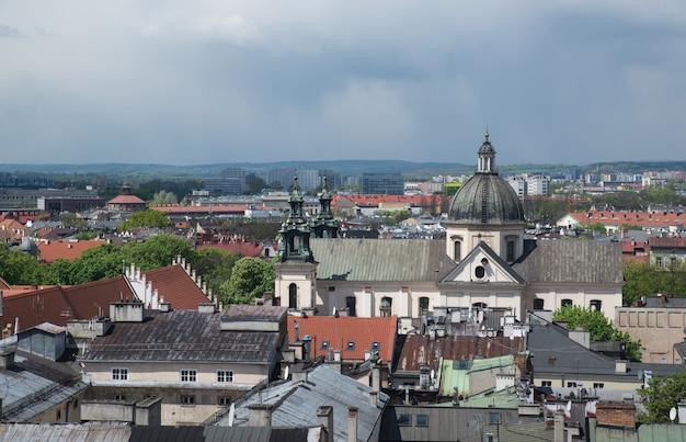 Widok Starego Krakowa Z Wysokości, Polska, Europa Premium Zdjęcia