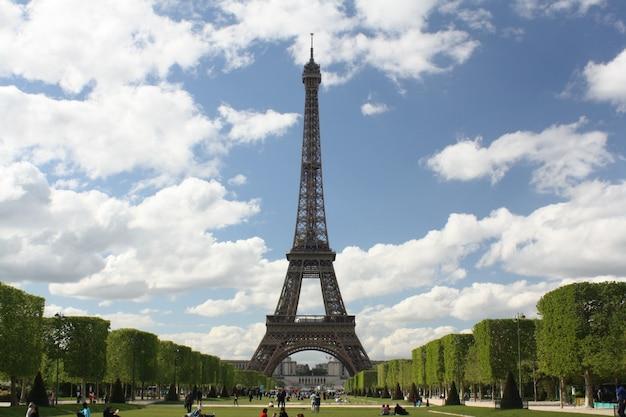 Widok wieża eiffla Darmowe Zdjęcia