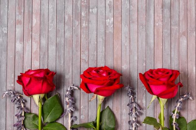 Widok Z Góry Asortyment Róż Z Miejsca Kopiowania Darmowe Zdjęcia