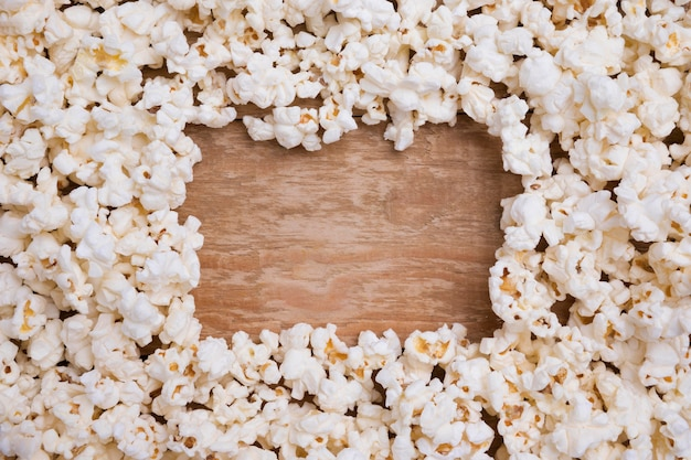Widok Z Góry Asortyment świeżego Popcornu Darmowe Zdjęcia
