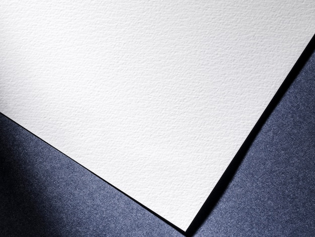 Widok Z Góry Białej Księgi Na Niebieskim Tle Darmowe Zdjęcia