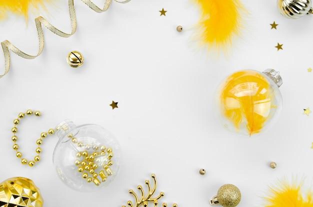 Widok z góry koncepcja nowego roku Darmowe Zdjęcia
