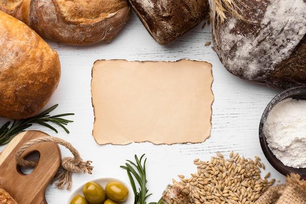 Widok Z Góry Koncepcji Układu Chleba Darmowe Zdjęcia