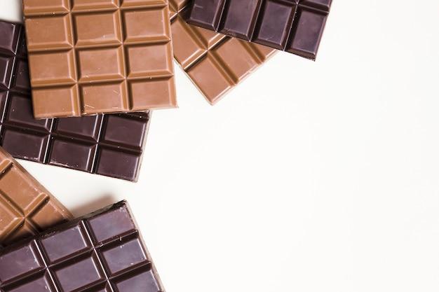 Widok z góry na ciemną czekoladową ramkę z miejscem na kopię Darmowe Zdjęcia