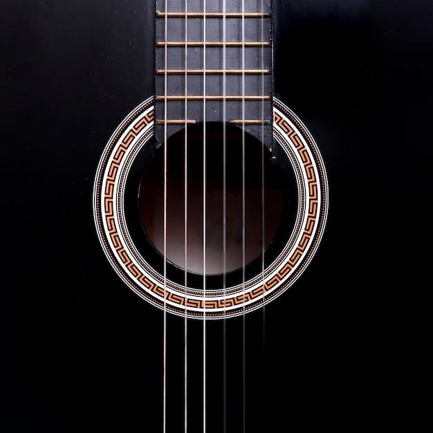 Widok Z Góry Na Gitarę Premium Zdjęcia
