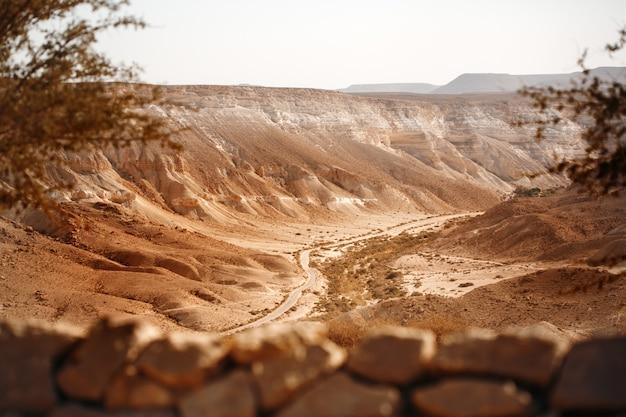 Widok Z Góry Na Pustynię Negew Premium Zdjęcia