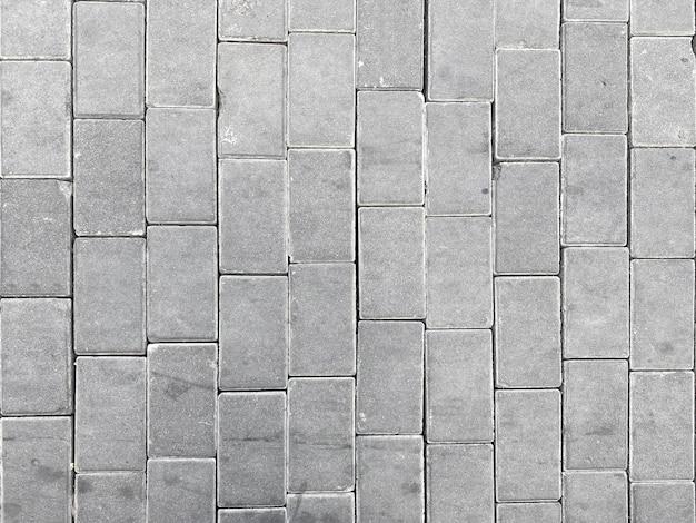 Widok Z Góry Na Szare Bloki Cementowe ścieżka Tło Podłogi. Premium Zdjęcia