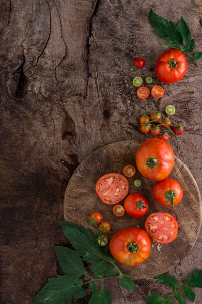 Widok Z Góry Na Układ świeżych Pomidorów Darmowe Zdjęcia