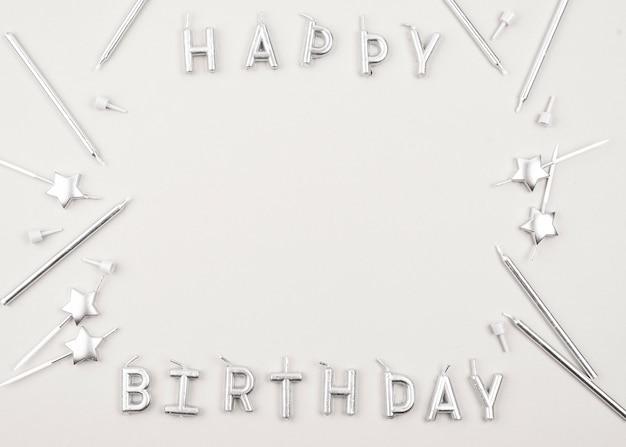 Widok Z Góry Okrągłe świeczki Urodzinowe Ramki Darmowe Zdjęcia