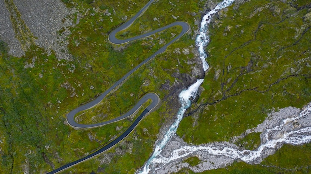 Widok Z Góry, Oszałamiający Widok Z Lotu Ptaka Premium Zdjęcia