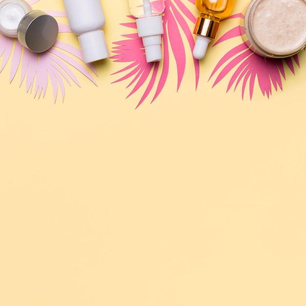 Widok Z Góry Ramki Produktów Kosmetycznych Darmowe Zdjęcia