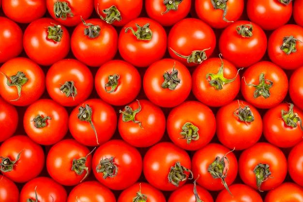 Widok Z Góry świeżych Czerwonych Pomidorów Premium Zdjęcia