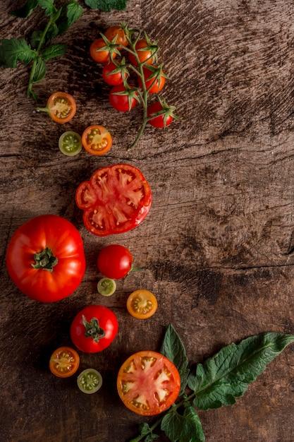 Widok Z Góry Układ Smaczne Pomidory Darmowe Zdjęcia