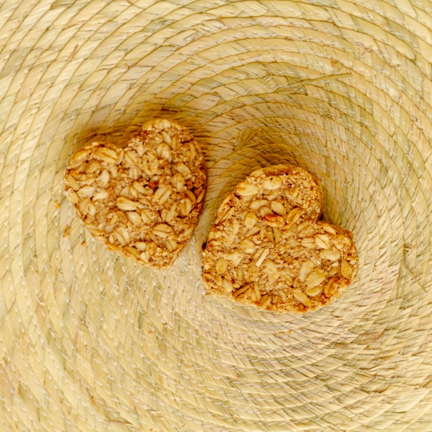 Widok z góry zbóż w kształcie serca Darmowe Zdjęcia