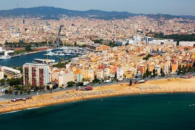 Widok Z Lotu Ptaka Barceloneta Od Morza śródziemnego. Barcelona Darmowe Zdjęcia