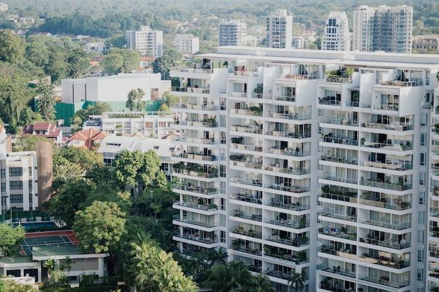 Widok Z Lotu Ptaka Budynków Mieszkalnych Darmowe Zdjęcia