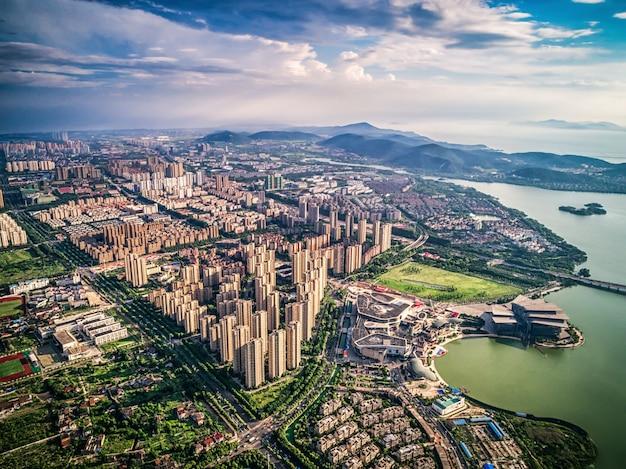 Widok Z Lotu Ptaka Chińskiego Miasta Zdjęcie Darmowe Pobieranie