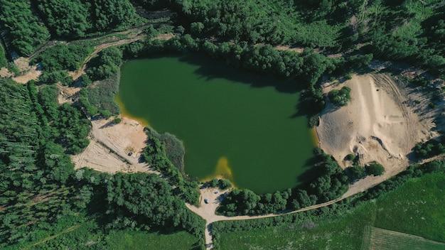 Widok Z Lotu Ptaka Na Jezioro Darmowe Zdjęcia