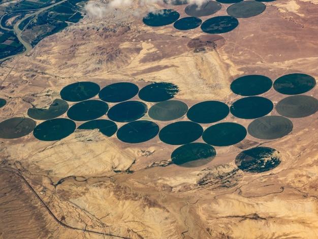 Widok Z Lotu Ptaka Na Kręgi Nawadniania Upraw, Green River, Utah Darmowe Zdjęcia
