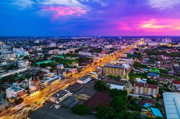Widok Z Lotu Ptaka Nakhon Ratchasima Miasto Lub Korat Przy