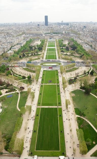 Widok Z Lotu Ptaka Parc Du Champs De Mars W Paryżu Premium Zdjęcia