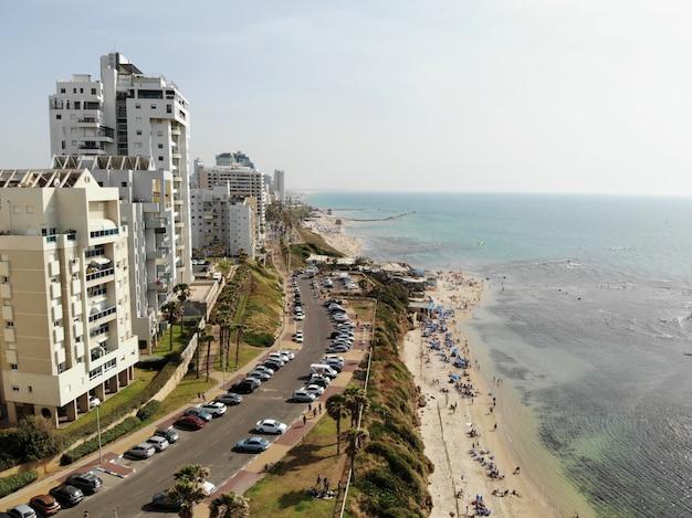 Widok Z Lotu Ptaka W Izraelu. Tel Aviv, Bat Yam Area. Bliski Wschód, Holyland. Premium Zdjęcia