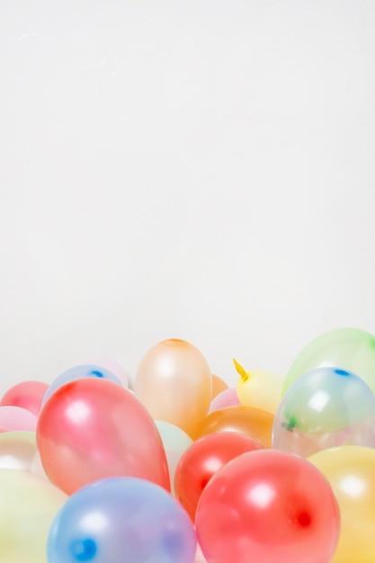 Widok Z Przodu Kolorowe Balony Z Miejsca Kopiowania Darmowe Zdjęcia