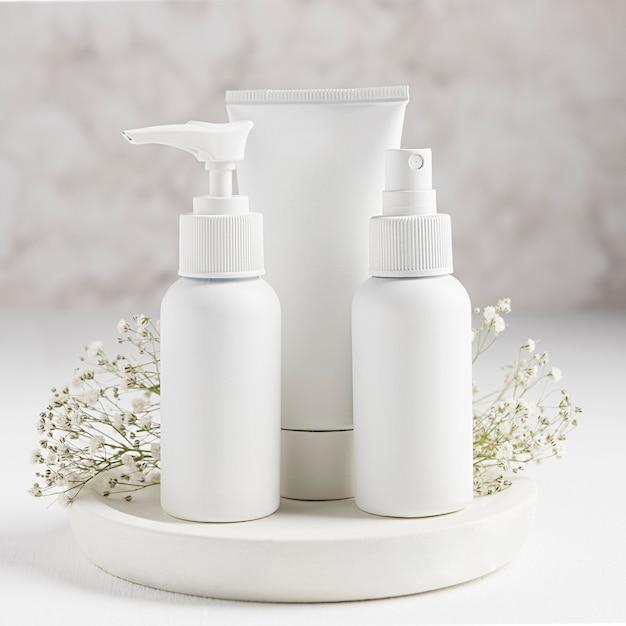 Widok Z Przodu Koncepcji Naturalnych Kosmetyków Darmowe Zdjęcia