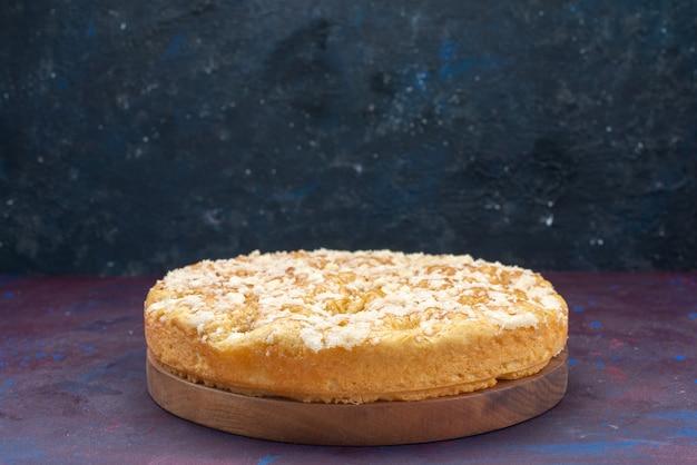 Widok Z Przodu Pyszne Pyszne Ciasto Słodkie I Pieczone Na Ciemnym Tle Ciasto Ciasto Cukier Słodkie Herbatniki Darmowe Zdjęcia