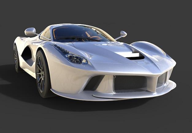 Widok Z Przodu Samochodu Sportowego Obraz Sportowy Samochód Szary Na Czarno Premium Zdjęcia