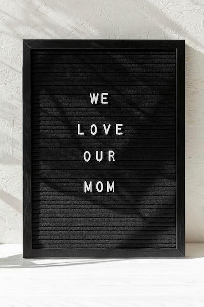 Widok Z Przodu Wiadomość Dzień Matki Happy Darmowe Zdjęcia