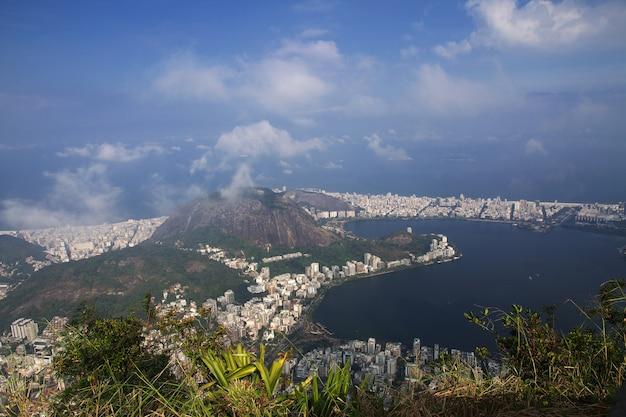 Widok Ze Wzgórza Corcovado, Rio De Janeiro, Brazylia Premium Zdjęcia