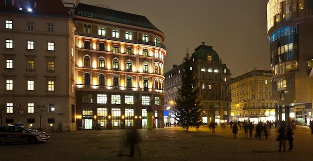 Wiedeń w nocy. austria Darmowe Zdjęcia