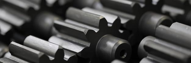Wiele Metalowych Kół Zębatych Fabryki Przemysłu Streszczenie Premium Zdjęcia