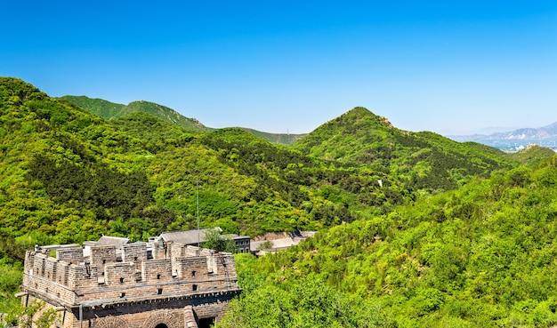 Wielki Mur Chiński W Badaling Premium Zdjęcia