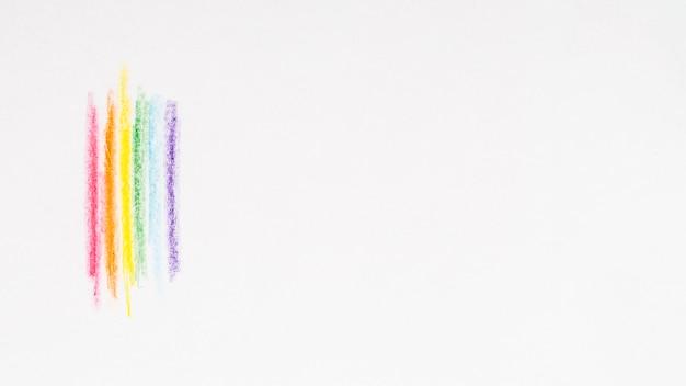 Wielobarwne Paski Z Kolorowymi Ołówkami Darmowe Zdjęcia