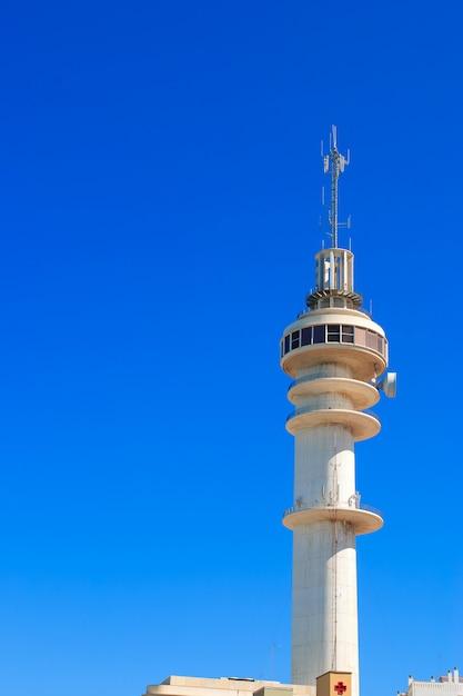 Wieża łączności, Kadyks, Hiszpania Premium Zdjęcia