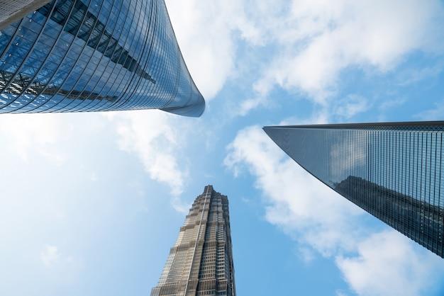 Wieżowce Centrum Finansowego, Szanghaj, Chiny Premium Zdjęcia