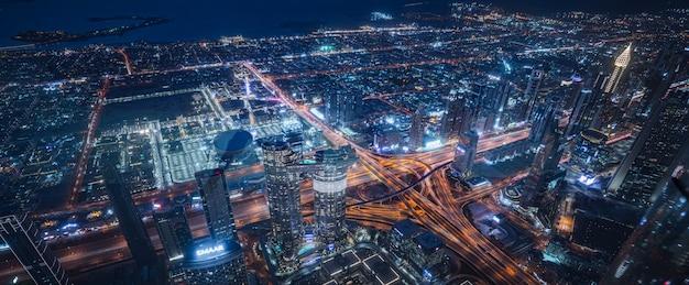 Wieżowce Nocą Premium Zdjęcia