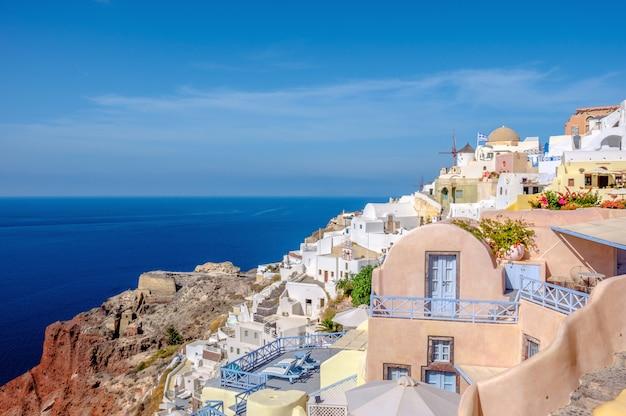 Wioska Oia, Wyspa Santorini, Grecja Premium Zdjęcia