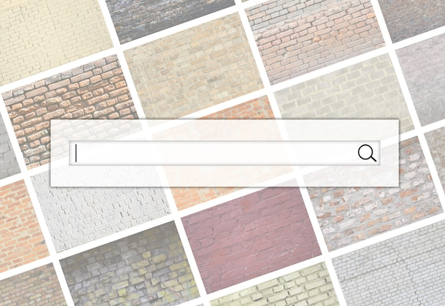 Wizualizacja paska wyszukiwania Premium Zdjęcia
