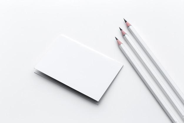 Wizytówka z ołówkiem Premium Zdjęcia