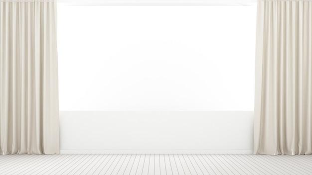 Wnętrze Minimalne Puste Miejsce W Domu Premium Zdjęcia