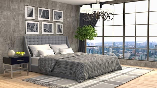 Wnętrze Sypialni Premium Zdjęcia