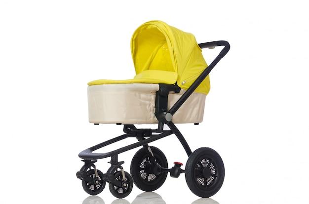 Wózek Dla Dzieci Na Białym Tle Premium Zdjęcia