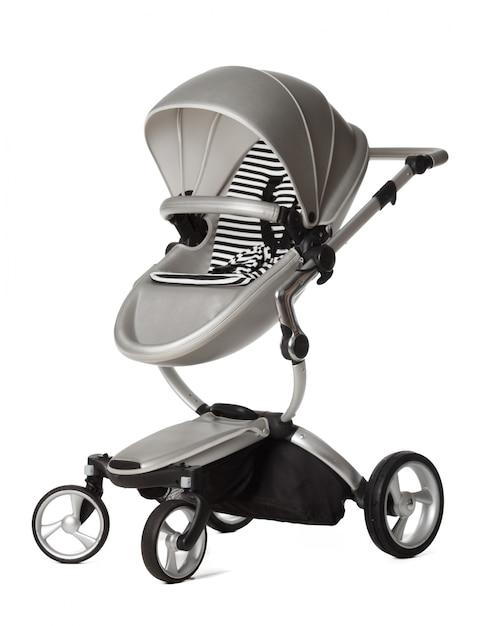 Wózek Dziecięcy Na Białym Tle Premium Zdjęcia