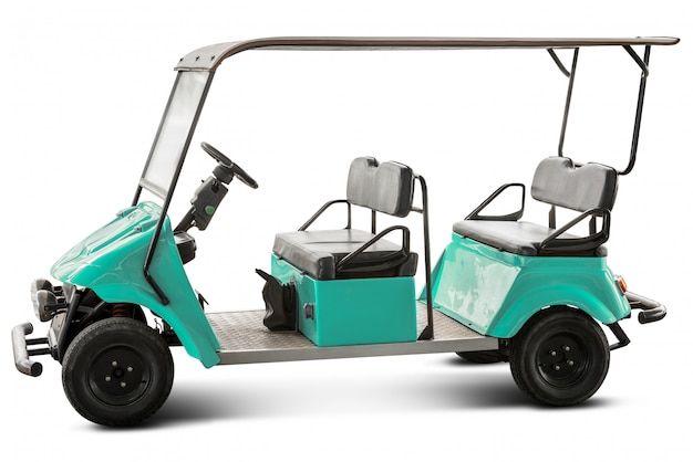 Wózek Golfowy Na Białym Tle Premium Zdjęcia