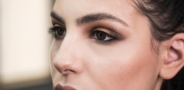 Wspaniały makijaż się blisko Darmowe Zdjęcia