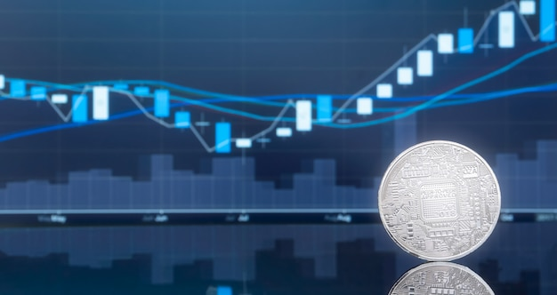 Wstępna oferta monet (ico) i kryptowaluta. Premium Zdjęcia